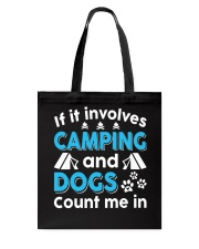 I LOVE CAMPING AND DOGS Tote Bag thumbnail
