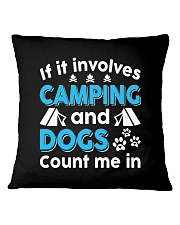 I LOVE CAMPING AND DOGS Square Pillowcase thumbnail