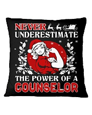COUNSELOR UGLY CHRISTMAS SWEATER Square Pillowcase thumbnail