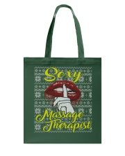 SEXY MASSAGE THERAPIST UGLY CHRISTMAS SWEATER Tote Bag thumbnail