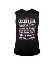 CRICKET GIRL HATED BY MANY LOVED BY PLENTY Sleeveless Tee thumbnail