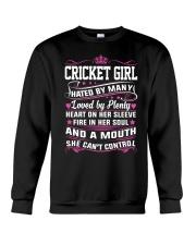 CRICKET GIRL HATED BY MANY LOVED BY PLENTY Crewneck Sweatshirt thumbnail