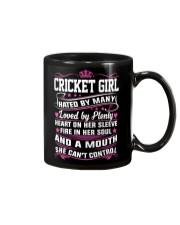 CRICKET GIRL HATED BY MANY LOVED BY PLENTY Mug thumbnail