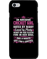 CRICKET GIRL HATED BY MANY LOVED BY PLENTY Phone Case thumbnail