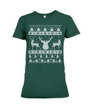 REINDEER UGLY CHRISTMAS SWEATER REINDEER XMAS GIFT Premium Fit Ladies Tee thumbnail