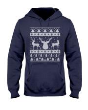 REINDEER UGLY CHRISTMAS SWEATER REINDEER XMAS GIFT Hooded Sweatshirt thumbnail