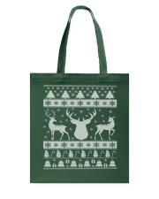 REINDEER UGLY CHRISTMAS SWEATER REINDEER XMAS GIFT Tote Bag thumbnail