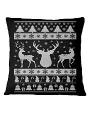 REINDEER UGLY CHRISTMAS SWEATER REINDEER XMAS GIFT Square Pillowcase thumbnail