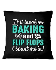 LOVE BAKING AND FLIP FLOPS MEN WOMEN GIFT Square Pillowcase thumbnail