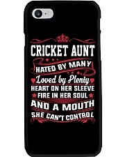 AWESOME CRICKET AUNT Phone Case thumbnail