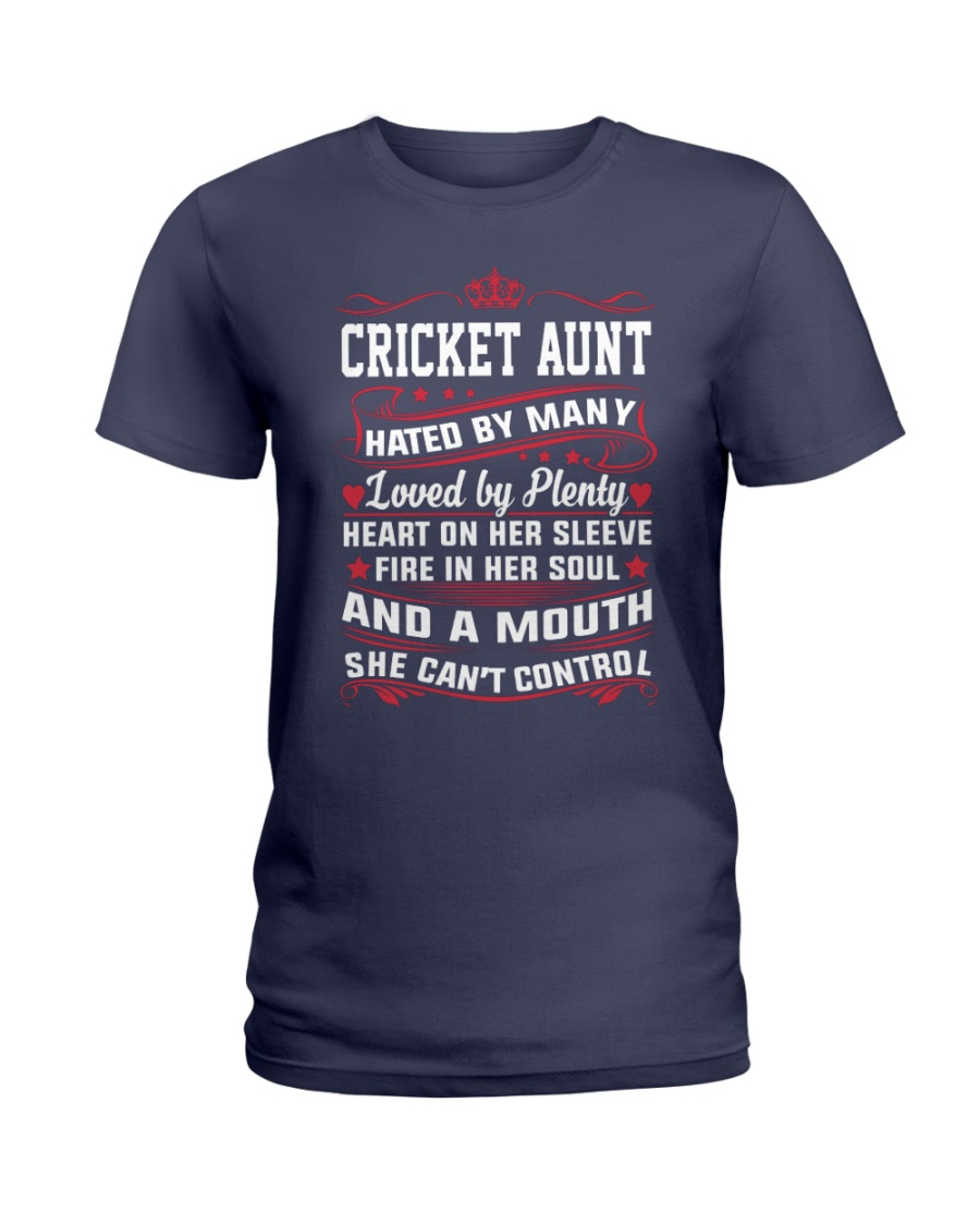 AWESOME CRICKET AUNT Ladies T-Shirt