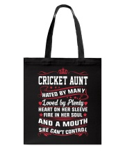 AWESOME CRICKET AUNT Tote Bag thumbnail