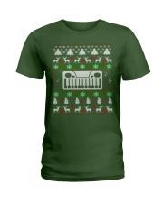SYNTHESIZER UGLY CHRISTMAS SWEATER XMAS Ladies T-Shirt thumbnail