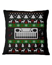 SYNTHESIZER UGLY CHRISTMAS SWEATER XMAS Square Pillowcase thumbnail