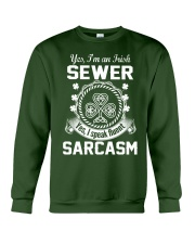 THIS IRISH SEWER SPEAKS FLUENT SARCASM Crewneck Sweatshirt thumbnail