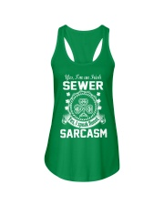 THIS IRISH SEWER SPEAKS FLUENT SARCASM Ladies Flowy Tank thumbnail