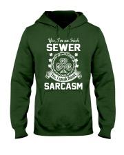 THIS IRISH SEWER SPEAKS FLUENT SARCASM Hooded Sweatshirt thumbnail