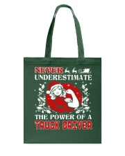 TRUCK DRIVER  UGLY CHRISTMAS SWEATER TRUCK DRIVER Tote Bag thumbnail
