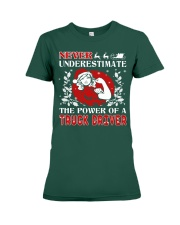TRUCK DRIVER  UGLY CHRISTMAS SWEATER TRUCK DRIVER Premium Fit Ladies Tee thumbnail