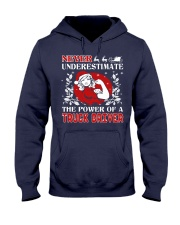 TRUCK DRIVER  UGLY CHRISTMAS SWEATER TRUCK DRIVER Hooded Sweatshirt thumbnail