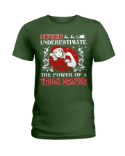 TRUCK DRIVER  UGLY CHRISTMAS SWEATER TRUCK DRIVER Ladies T-Shirt thumbnail
