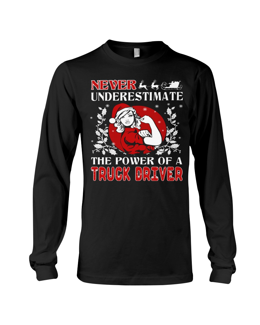 TRUCK DRIVER  UGLY CHRISTMAS SWEATER TRUCK DRIVER Long Sleeve Tee