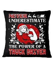 TRUCK DRIVER  UGLY CHRISTMAS SWEATER TRUCK DRIVER Square Pillowcase thumbnail
