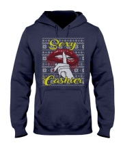 SEXY CASHIER UGLY CHRISTMAS SWEATER CASHIER XMAS Hooded Sweatshirt thumbnail
