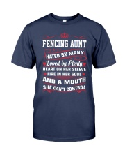 AWESOME FENCING AUNT Premium Fit Mens Tee thumbnail