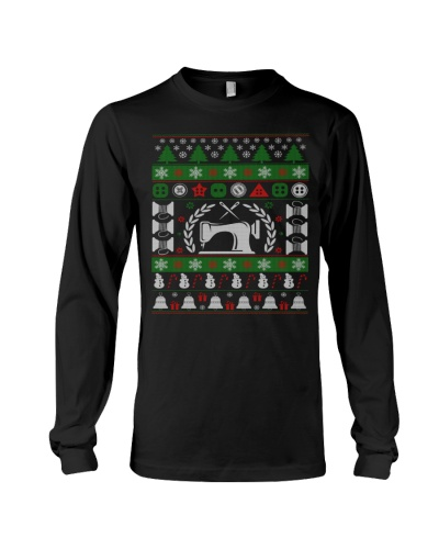 LOVE SEWING UGLY CHRISTMAS SWEATER
