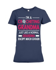 CROCHETING GRANDMA IS MUCH COOLER Premium Fit Ladies Tee thumbnail