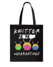 KNITTER 2020 QUARANTINED YARN IN FACEMASK Tote Bag front