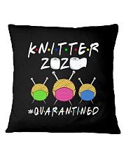 KNITTER 2020 QUARANTINED YARN IN FACEMASK Square Pillowcase thumbnail