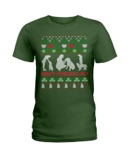 GREAT PYRENEES MOM UGLY CHRISTMAS SWEATER XMAS  Ladies T-Shirt thumbnail