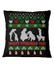 GREAT PYRENEES MOM UGLY CHRISTMAS SWEATER XMAS  Square Pillowcase thumbnail