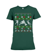 BASKETBALL GUY UGLY CHRISTMAS SWEATER Premium Fit Ladies Tee thumbnail