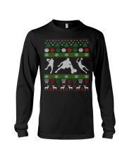 BASKETBALL GUY UGLY CHRISTMAS SWEATER Long Sleeve Tee front
