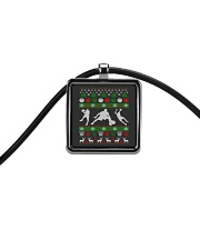BASKETBALL GUY UGLY CHRISTMAS SWEATER Cord Rectangle Necklace thumbnail