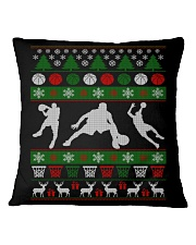 BASKETBALL GUY UGLY CHRISTMAS SWEATER Square Pillowcase thumbnail