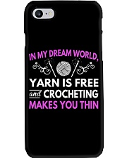 CROCHETING MAKES YOU THIN FUNNY CROCHET Phone Case thumbnail