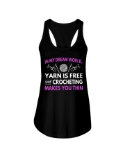 CROCHETING MAKES YOU THIN FUNNY CROCHET Ladies Flowy Tank tile