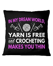CROCHETING MAKES YOU THIN FUNNY CROCHET Square Pillowcase tile