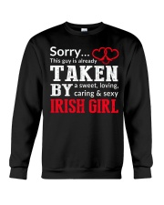 SORRY TAKEN BY A IRISH Crewneck Sweatshirt thumbnail