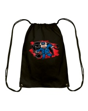 Pig vs Panther  Drawstring Bag thumbnail