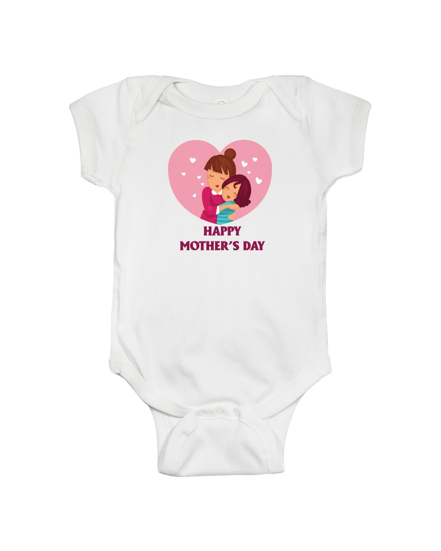 Baby and Mom on Morther's Day Onesie