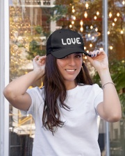 retro game pixel Love word hat Embroidered Hat garment-embroidery-hat-lifestyle-04