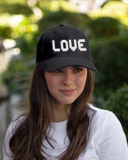retro game pixel Love word hat Embroidered Hat garment-embroidery-hat-lifestyle-07