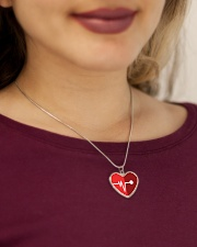 heart and pulse Metallic Heart Necklace aos-necklace-heart-metallic-lifestyle-1