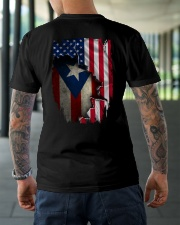 NC - Puerto Rican Blood inside me Classic T-Shirt lifestyle-mens-crewneck-back-3