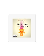 trolling for nothing single merch  Square Magnet thumbnail